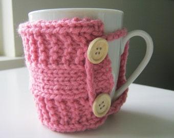 Teacher gift Coffee mug cozy tea cozy rustic co worker nurse teacher gift knit cup warmer knit mug cozies knit coffee sleeve gifts under 20