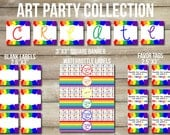 Art Birthday Party Printable Collection