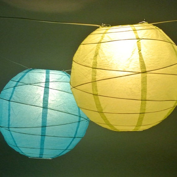 paper lanterns with lights lantern globe light strand green or white cord choose your 30451