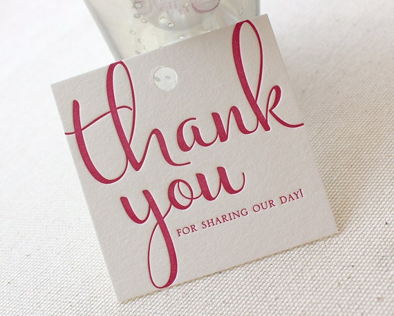 Wedding Gift Bag Thank You Tags : favorite favorited like this item add it to your favorites to revisit ...