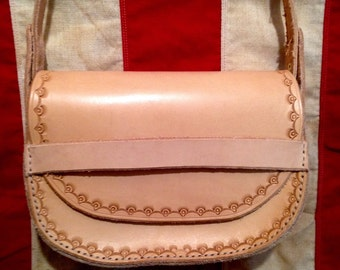 Stamped Leather Shoulder Bag