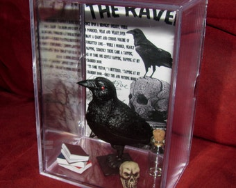 Mr Poe's Raven Display...Ready To Ship...Brand New..(We Combine Shipping)