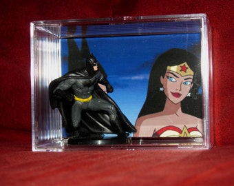"She Loves Him Display-""Wonder Woman""wants 2 kiss Batman!! True Love ! (HaHa Superman)"