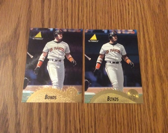 2 Barry Bonds Cards featuring Museum Collection Insert