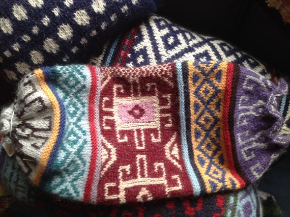 Moroccan design knitted bolster cushion Moroccan by Seaview333