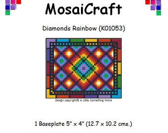MosaiCraft Pixel Craft Mosaic Art Kit 'Diamonds Rainbow' (Like Mini Mosaic and Paint by Numbers)