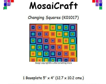 MosaiCraft Pixel Craft Mosaic Art Kit 'Changing Squares' (Like Mini Mosaic and Paint by Numbers)