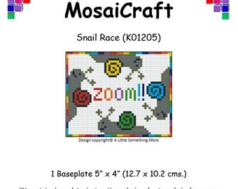 MosaiCraft Pixel Craft Mosaic Art Kit 'Snail Race' (Like Mini Mosaic and Paint by Numbers)