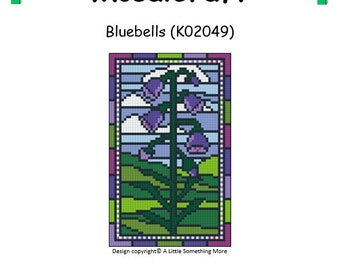 MosaiCraft Pixel Craft Mosaic Art Kit 'Bluebells' (Like Mini Mosaic and Paint by Numbers)