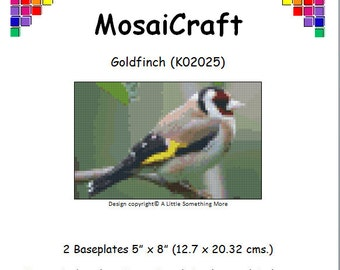 MosaiCraft Pixel Craft Mosaic Art Kit 'Goldfinch' (Like Mini Mosaic and Paint by Numbers)