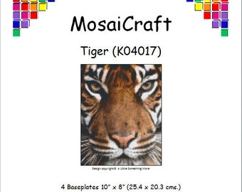 MosaiCraft Pixel Craft Mosaic Art Kit 'Tiger' (Like Mini Mosaic and Paint by Numbers)