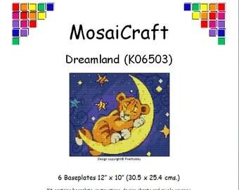 MosaiCraft Pixel Craft Mosaic Art Kit 'Dreamland' (Like Mini Mosaic and Paint by Numbers)