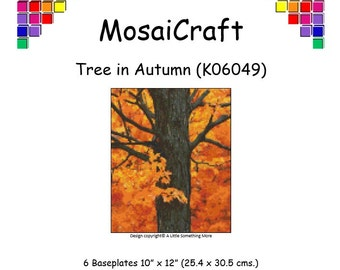 MosaiCraft Pixel Craft Mosaic Art Kit 'Tree in Autumn' (Like Mini Mosaic and Paint by Numbers)