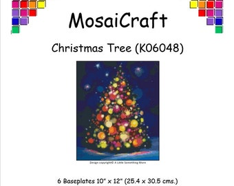 MosaiCraft Pixel Craft Mosaic Art Kit 'Christmas Tree' (Like Mini Mosaic and Paint by Numbers)
