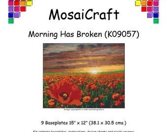MosaiCraft Pixel Craft Mosaic Art Kit 'Morning Has Broken' (Like Mini Mosaic and Paint by Numbers)