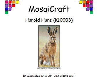 MosaiCraft Pixel Craft Mosaic Art Kit 'Harold Hare' (Like Mini Mosaic and Paint by Numbers)