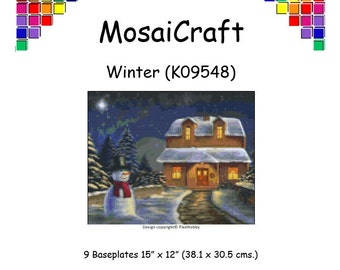 MosaiCraft Pixel Craft Mosaic Art Kit 'Winter' (Like Mini Mosaic and Paint by Numbers)