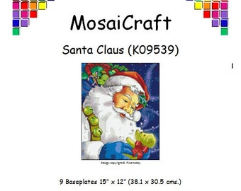 MosaiCraft Pixel Craft Mosaic Art Kit 'Santa Claus' (Like Mini Mosaic and Paint by Numbers)