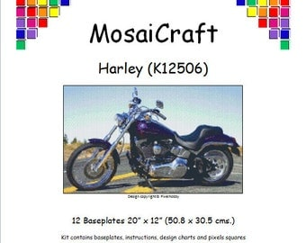 MosaiCraft Pixel Craft Mosaic Art Kit 'Harley' (Like Mini Mosaic and Paint by Numbers)