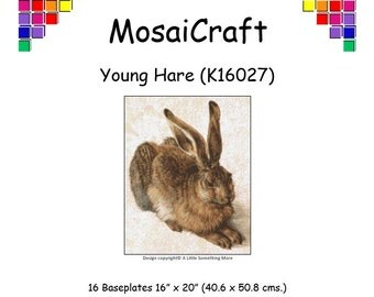MosaiCraft Pixel Craft Mosaic Art Kit 'Young Hare' (Like  Mini Mosaic and Paint by Numbers)