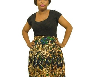 Clearance - Plus Size African Print Skirt (Size XXL and XXXL)