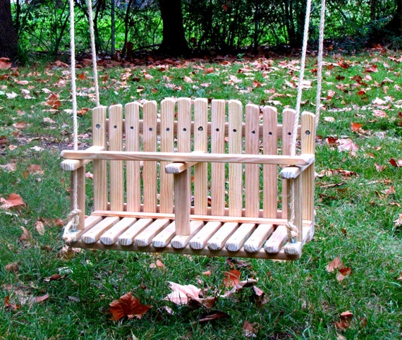 pine double swing kids wooden swing backyard outdoor toys. Black Bedroom Furniture Sets. Home Design Ideas