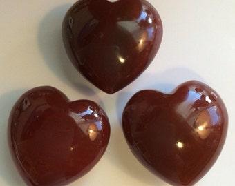 Carnelian Gemstone Puffy Heart, 45mm, Spiritual Stone, Healing Stone, Healing Crystal, Chakra