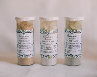Facial Mask Sampler with Organic Extracts, milk, honey and oats