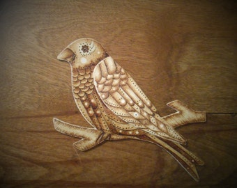 Little Bird - Wooden Magnet