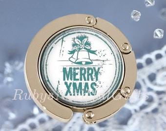 Christmas Handbag Hanger, Bag Hook, Purse Hanger, Diaper Bag Hanger, Gift for her, Best Friend Gift, Christmas Bells..