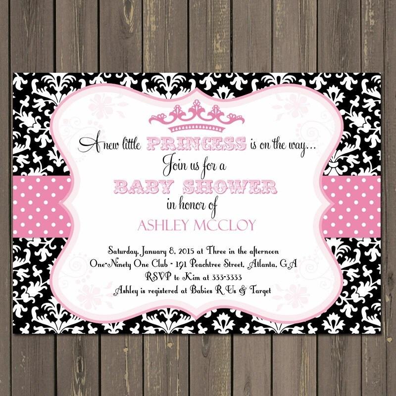 Royal Princess Baby Shower Invitations – diabetesmang.info