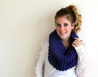 Pre-Fall SALE Knitted Scarf Chunky Cowl Cobalt - Potomac Cowl