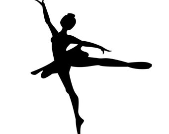 SVG Dancing Ballerina silhouette Cuttable File - INSTANT DOWNLOAD - for use with silhouette cameo, cricut, Sizzix, other machines