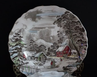 Vintage, Set of Five Stafford Shire Welcome Home Ironstone Dinner Plates