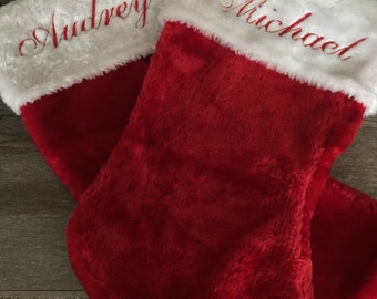 SALE June/July (Reg. 12.00) Personalized Christmas Stockings! Choose from 3 different fonts! Embroidered, Monogramming, Holiday stockings