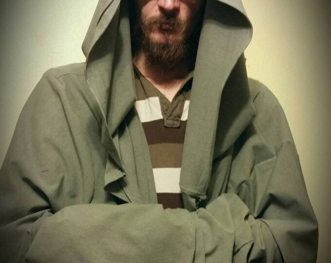 Grey Hooded Cloak with Huge Oversized Hood. Sith/Star Wars, Gandalf/LOTR or Grim Reaper Style
