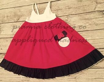Disney Inspired Appliqued Epcot Hummingbird Style Dress sizes 1-12