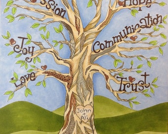 Marriage Tree of Life (Customized original)