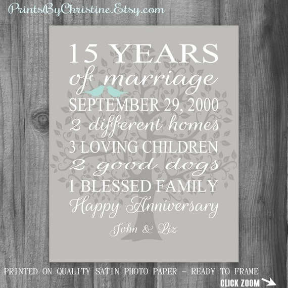 15th Wedding Anniversary Gift For Wife: 15th Anniversary Gift Wife Anniversary Gift By