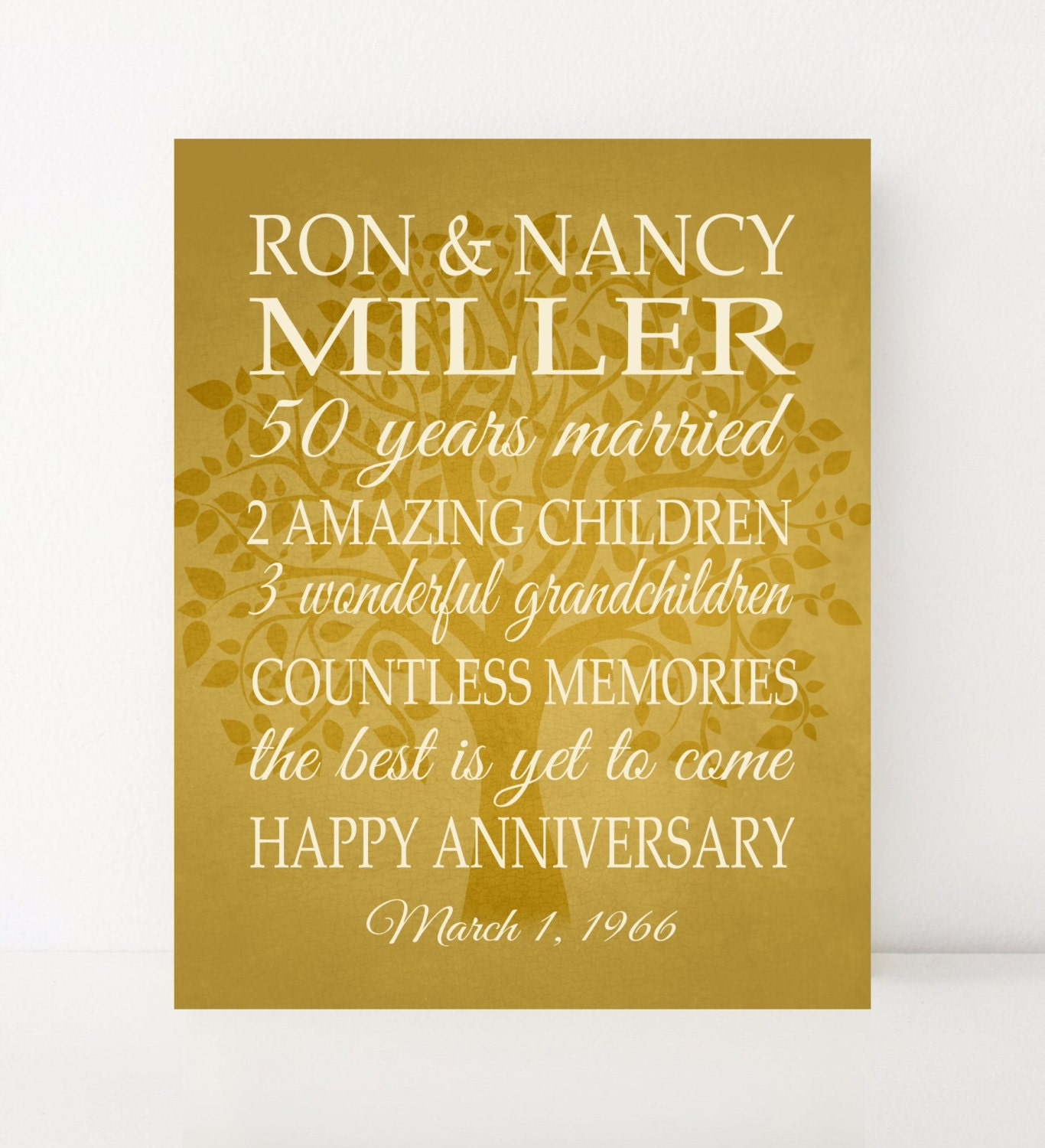 50th anniversary gifts for parents 50 year anniversary wedding for Gifts for parents on anniversary