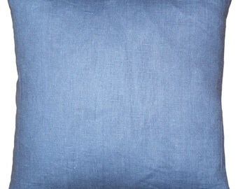 Tuscany Linen Pacific Blue 20x20 Throw Pillow