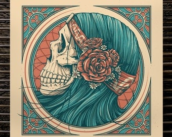 "Mystic Gypsy  | 16"" x 16"" Screen Print"