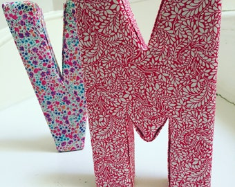 Liberty fabric ornamental letter