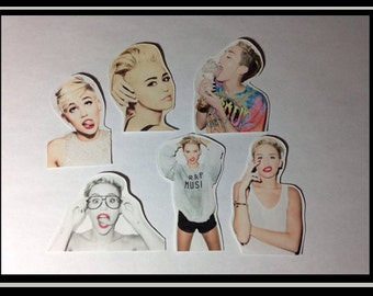 Miley Cyrus Stickers  - Set of 6