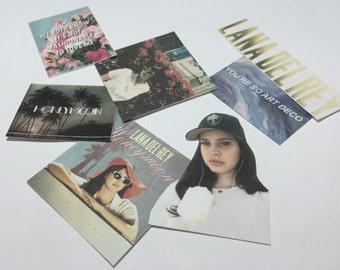 Lana Del Rey Stickers - Mixed - Set of 7