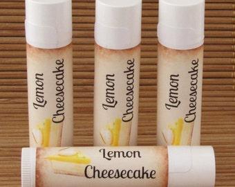 Lemon Cheesecake Flavored Lip Balm - Handmade All Natural Lip Balm
