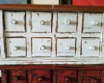 Mini - Apothecary - Rustic Set of Drawers