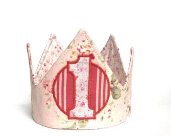 Girl birthday crown - First Birthday Crown - First Birthday Hat