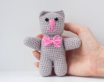 Crochet Amigurumi Kitten Plush / Stuffed Animal Cat Knit Toy