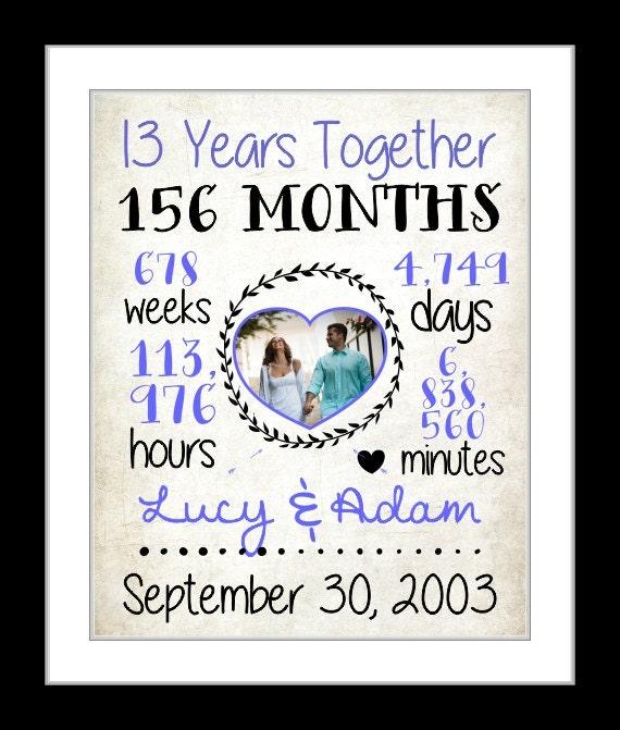 13 Wedding Anniversary Gift Ideas: A Wedding Keepsake 13 Year Wedding Anniversary Gift